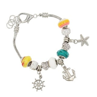 "BeSheek Jewelry ""Marina Love"" Silver European-Style Interchangeable Charm Bead Fashion Bracelet"