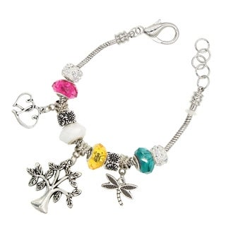 "BeSheek Jewelry ""Joshua Tree"" Silver European-Style Interchangeable Charm Bead Fashion Bracelet"