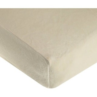 American Baby Company Ecru Heavenly Soft Chenille Crib Sheet (Pack of 2)