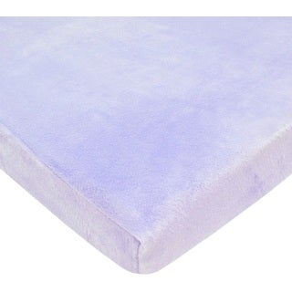 American Baby Company Lavender Heavenly Soft Chenille Cradle Sheet (Pack of 2)