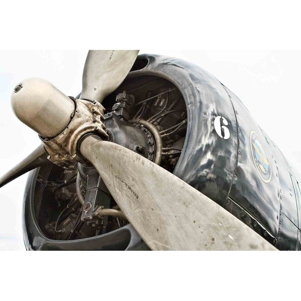 """Grumman Avenger Engine"" by Glenn Martin, Canvas Giclee Wall Art Print"