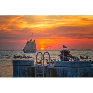 """Sunset"" by Glenn Martin, Canvas Giclee Wall Art Print"