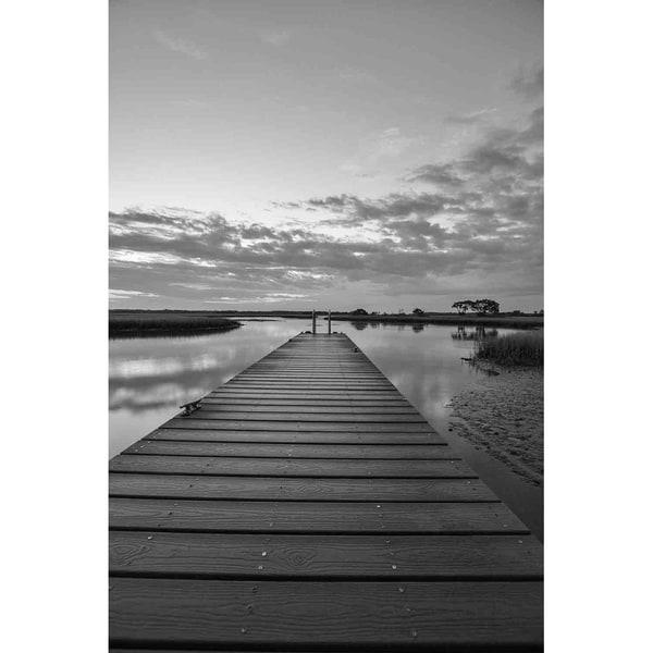 """Dock in black & white"" by Glenn Martin, Canvas Giclee Wall Art Print"