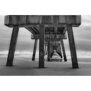 """Pier in black & white"" by Glenn Martin, Canvas Giclee Wall Art Print"