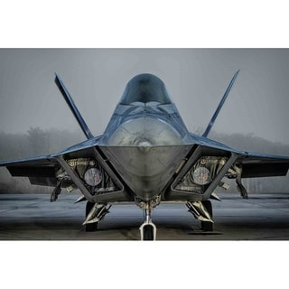 """F-22 Raptor in fog"" by Glenn Martin, Canvas Giclee Wall Art Print"