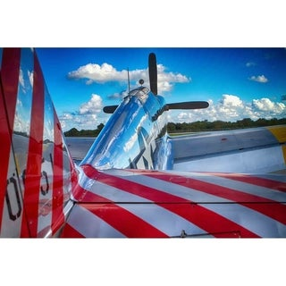 """P-51 Mustang"" by Glenn Martin, Canvas Giclee Wall Art Print"