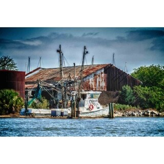 """Shrimp Boat"" by Glenn Martin, Canvas Giclee Wall Art Print"