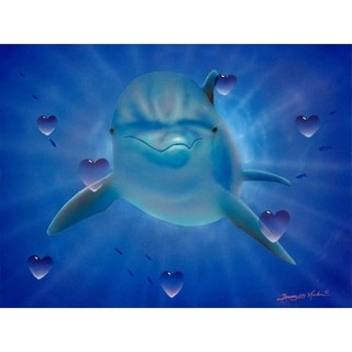 """""""Dolphin Love"""" by Jeremy Lee, Canvas Giclee Wall Art"""