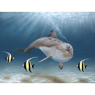"""""""Dolphin Idols"""" by Jeremy Lee, Canvas Giclee Wall Art"""