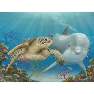 """""""Best Buds"""" by Jeremy Lee, Canvas Giclee Wall Art"""