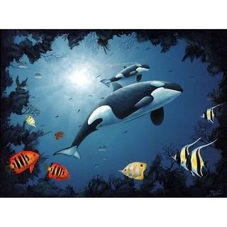 """""""Orca Babe"""" by Jeremy Lee, Canvas Giclee Wall Art"""
