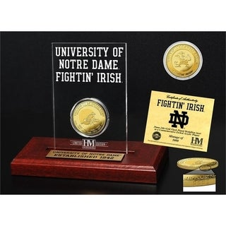 University of Notre Dame 11-Time National Champions Gold Coin Etched Acrylic - Multi-color