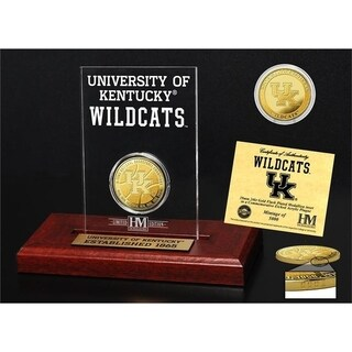 University of Kentucky Basketball 8-Time National Champions Gold Coin Etched Acrylic - Multi-color