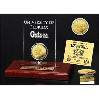 University of Florida 3-Time National Champions Gold Coin Etched Acrylic - Multi-color