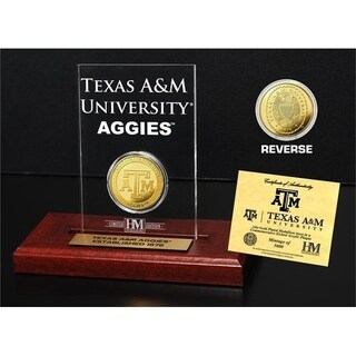 Texas A&M University Gold Coin Etched Acrylic - Multi-color