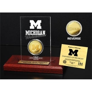University of Michigan Gold Coin Etched Acrylic - Multi-color