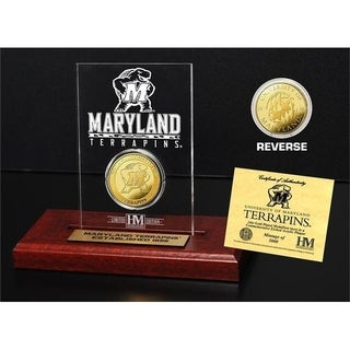 University of Maryland  Gold Coin Etched Acrylic - Multi-color
