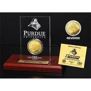 Purdue University  Gold Coin Etched Acrylic - Multi-color