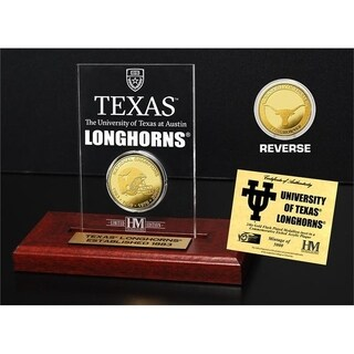 University of Texas 4-Time National Champions Gold Coin Etched Acrylic - Multi-color