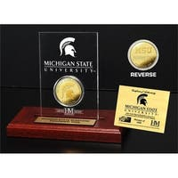 Michigan State University Gold Coin Etched Acrylic - Multi-color