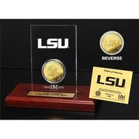 Louisiana State University  Gold Coin Etched Acrylic - Multi-color