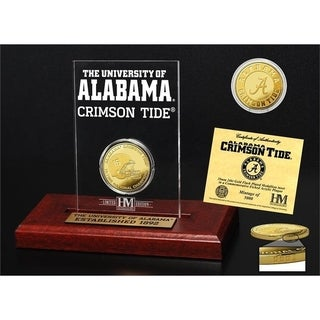 University of Alabama 16-Time National Champions Gold Coin Etched Acrylic - Multi-color