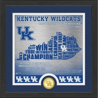 """University of Kentucky Basketball """"State"""" Bronze Coin Photo Mint - Multi-color"""