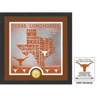 """University of Texas """"State"""" Bronze Coin Photo Mint - Multi-color"""