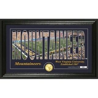 "University of West Virginia ""Silhouette"" Bronze Coin Photo Mint - Multi-color"
