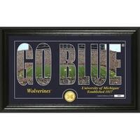 """University of Michigan """"Silhouette"""" Bronze Coin Photo Mint - Multi-color"""