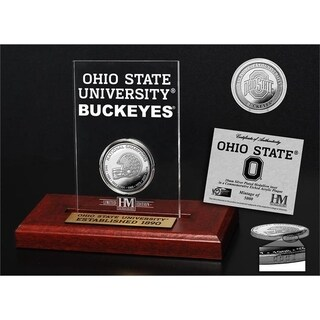 Ohio State University 8-Time National Champions Silver Coin Etched Acrylic - Multi-color