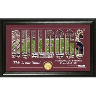 """Mississippi State University """"Silhouette"""" Bronze Coin Photo Mint - Multi-color"""