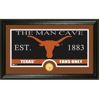 """University of Texas """"Man Cave"""" Panoramic Bronze Coin Photo Mint - Multi-color"""
