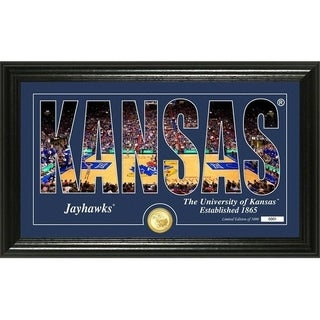 "University of Kansas Basketball ""Silhouette"" Bronze Coin Photo Mint - Multi-color"