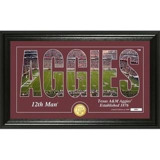 "Texas A&M University ""Silhouette"" Bronze Coin Photo Mint - Multi-color"