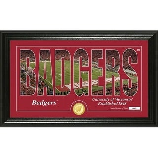 """University of Wisconsin Basketball """"Silhouette"""" Photo Mint - Multi-color"""