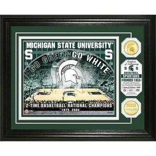 "Michigan State University""Basketball"" Bronze Coin Photo Mint - Multi-color"
