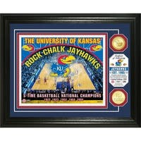 University of Kansas Basketball Bronze Coin Photo Mint - Multi-color