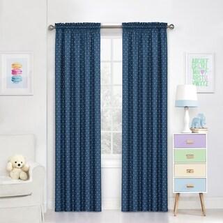 Eclipse Kids Polka Dots Room-Darkening Window Curtain Panel (42X63 - Blue)