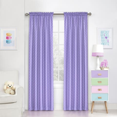 Eclipse Kids Polka Dots Room-Darkening Window Curtain Panel