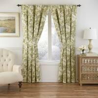 Waverly Paisley Cotton Verveine Window Curtain Panel Pair