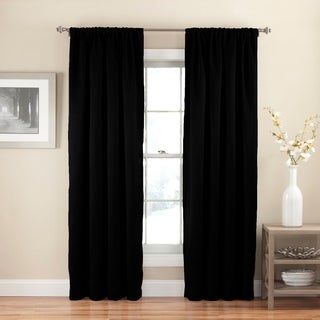 a8992706e81b Redecorate in a snap with Eclipse Solid Thermapanel room-darkening single  panel curtain. This