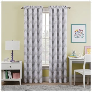 Waverly Kids Airwaves Blackout Window Curtain (42X84 - Grey)