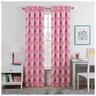 Waverly Kids Airwaves Blackout Window Curtain (42X84 - Pink)