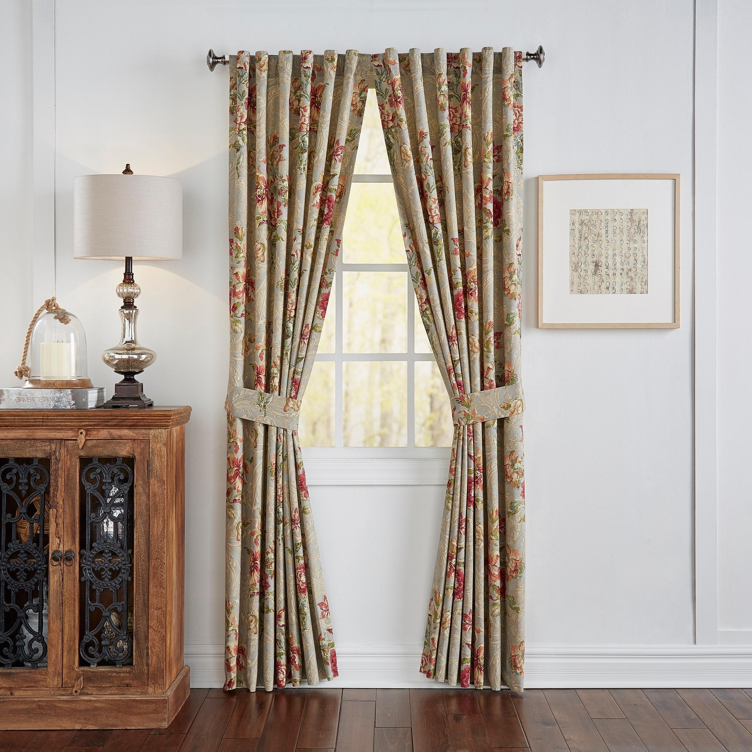 Waverly Fresco Flourish Window Drapery Pair, Size 84 (Cot...
