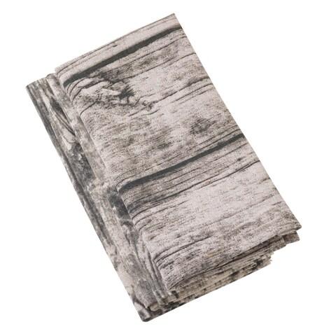Wood Grain Design Cotton Napkin Set