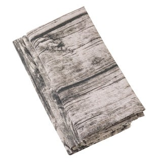 Wood Plank Pattern Design Cotton Napkin Set
