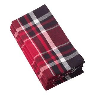 Jarret Collection Classic Plaid Design Cotton Napkin (Set of 4)