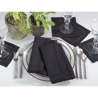 Classic Hemstitched Border Trim Design Dinner Napkin Set