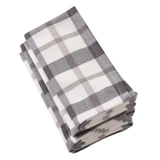 Yuri Collection Classic Plaid Design Cotton Napkin (Set of 4)